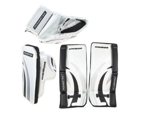 Other Hockey Goalie Equipment 79765: Powertek Barikad V2.0 Junior Hockey Goalie Pad Set 26 Leg Pads Glove And Blocker -> BUY IT NOW ONLY: $249.99 on eBay!