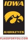 """Iowa Hawkeyes Applique Banner Flag 44"""" x 28"""""""