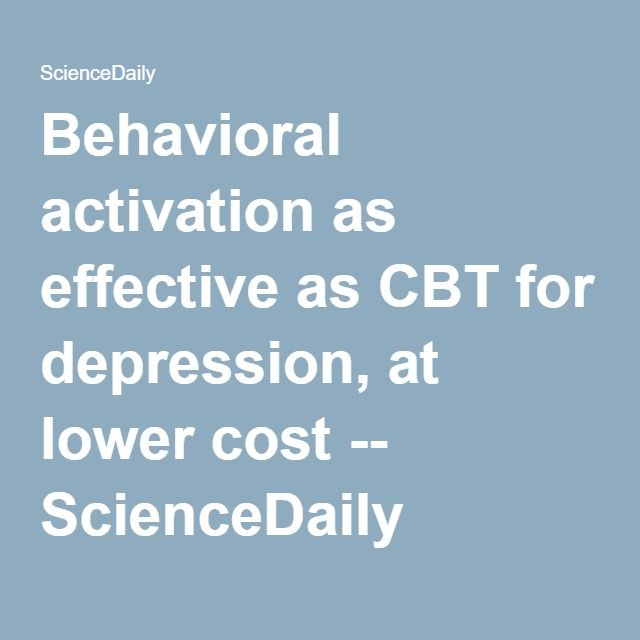 an overview of cognitive behavioral therapy cbt and its effectiveness as a treatment Cognitive behavioral therapy (cbt) is a short-term form of behavioral treatment it helps people problem-solve cbt also reveals the relationship between beliefs, thoughts, and feelings, and the.