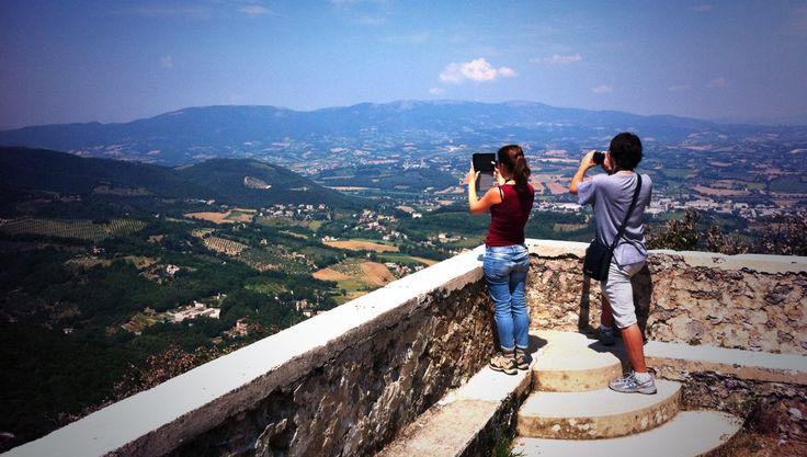 Belvedere Grande del Bosco Grande di #Monteluco - sulle tracce di San Francesco d'Assisi