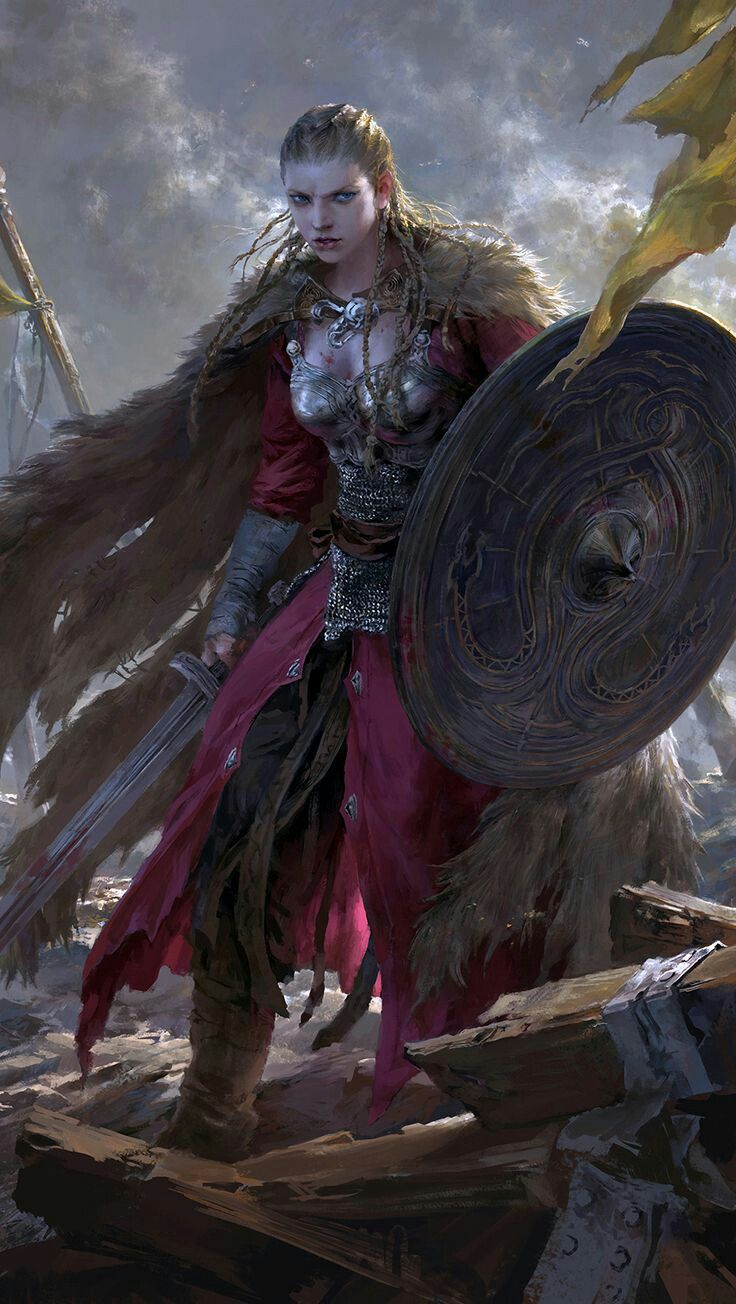 Viking woman | Fantasy artwork, Art, Character art