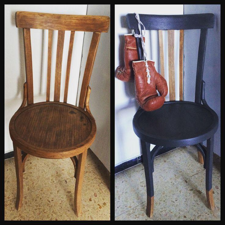 Bistrot chair #diy #chalkpaint #reciclando