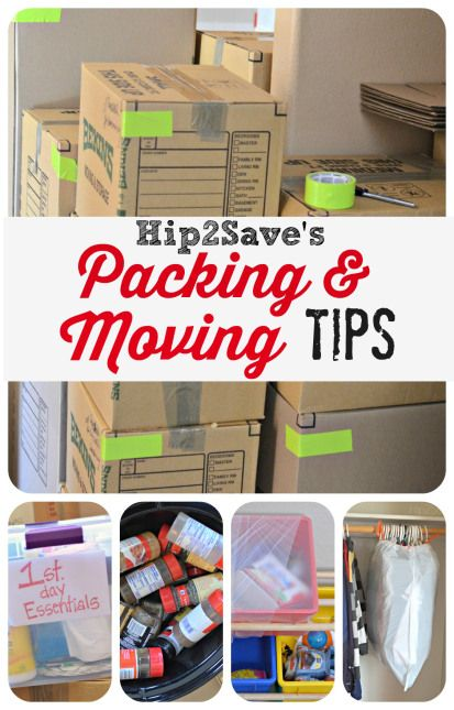 Hip2Save's Packing  Moving Tips - These ideas are fantastic, especially the different colored duct tape!