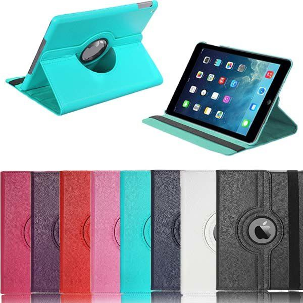 360 Rotating PU Leather Swivel Stand Case Cover For iPad Air 1…
