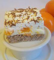 Skvele mandarinkove rezy. Naozaj. Uzasny pudingovo-tvarohovy krem doplneny mandarinkami na lahkej nadychanej orechovej pi...