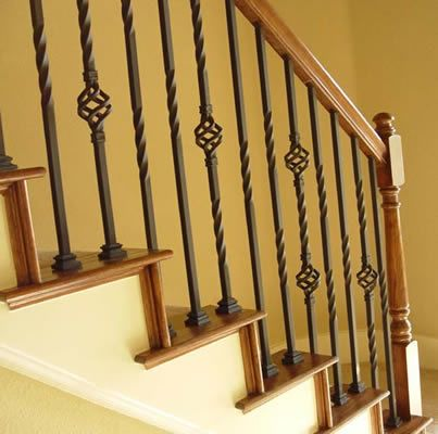 Iron Balusters Iron Spindles Metal Stair Parts Basket Twist Scroll .
