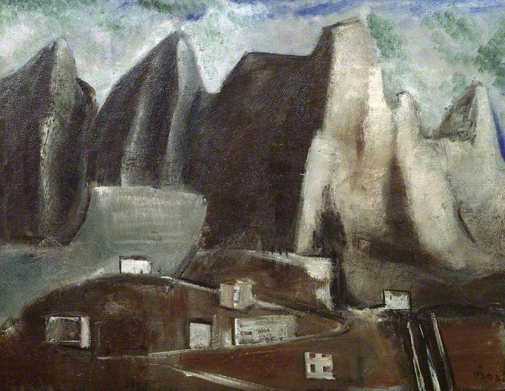 Mountains (Montagne), 1928 by Mario Sironi (Italian 1885-1961)