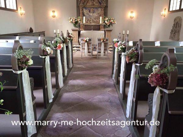 Kapelle Altrosa Deko  Church Wedding in 2019  Tischdekoration hochzeit Heiraten in hamburg