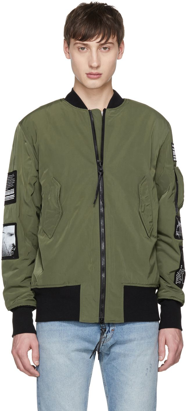 3043d82ca Tiger of Sweden Jeans - Green Sob Patches Bomber Jacket   bombers ...