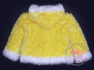 Шубка из травки , связанная спицами для девочки 2-3х лет