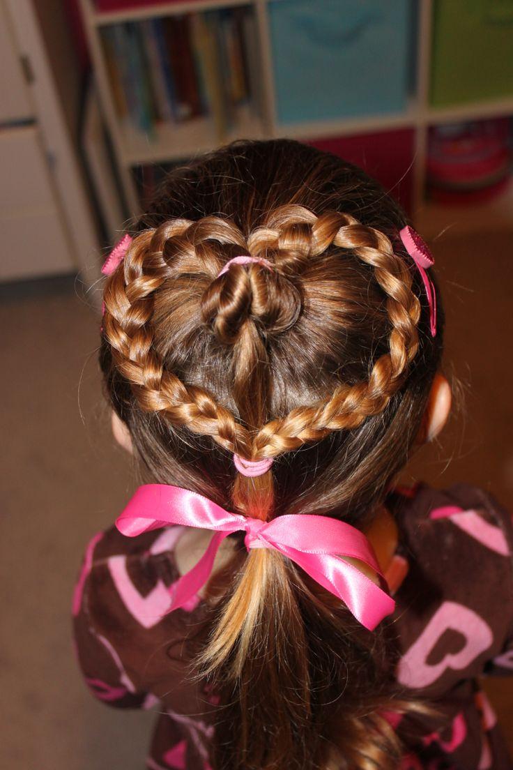 Best Hair For Little Girls Images On Pinterest Girls Hairdos - Hairstyle for valentine's dance