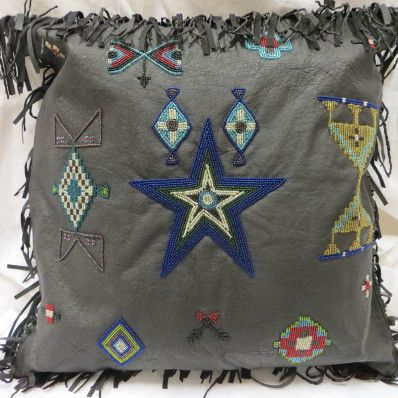 Charming Double D Ranch Cayuse Beaded Pillow