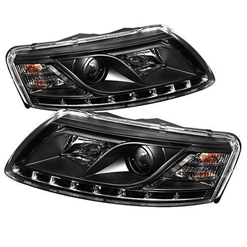 Spyder Auto Audi A6 Black DRL LED Crystal Headlight...