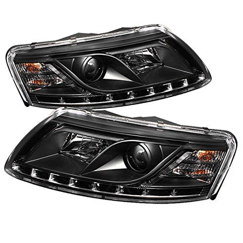 Spyder Auto Audi A6 Black DRL LED Crystal Headlight...