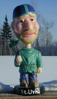 March 16 - St. Urho day! St. Urho is said to have chased the grasshoppers out of Finland, thus saving the grape crop. (legend originated in Northern Minnesota)
