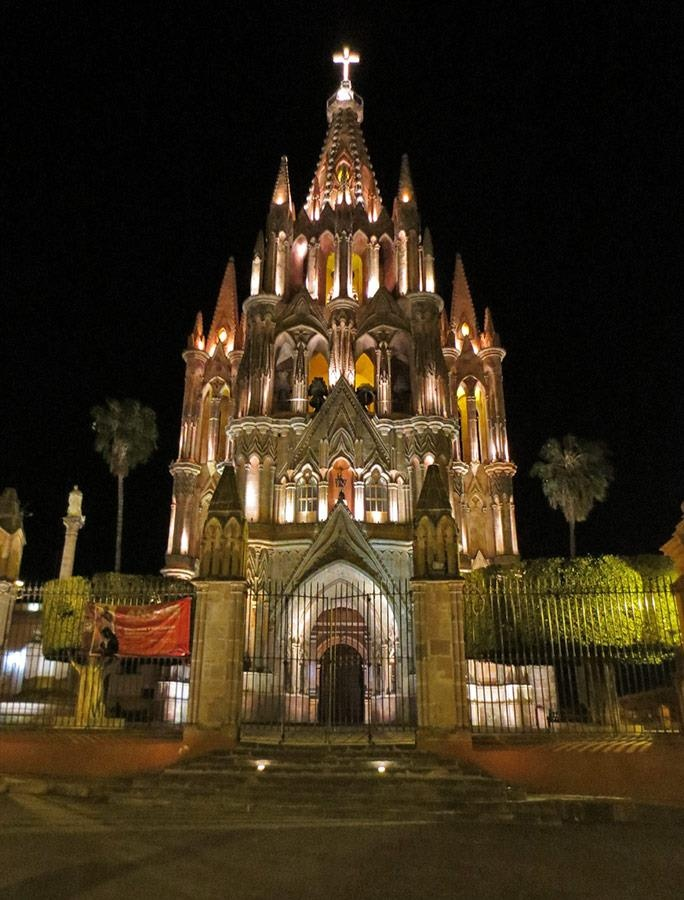 Church of St. Michael in San Miguel de Allende, Mexico photographed by Jean Fogelberg