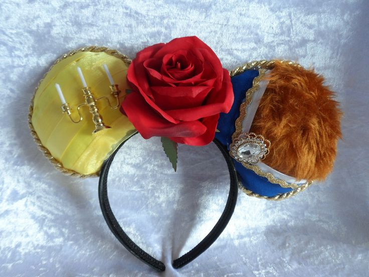 Disney Ears: Beauty and the Beast Inspired Mouse Ears; Belle; Beast by Tenandsixcrafts on Etsy