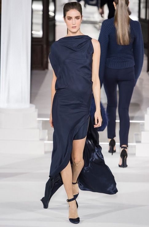7. Vionnet, Fall 2013; Has Characteristics of an Himation- fabric draped and wrapped around body and showing one shoulder.