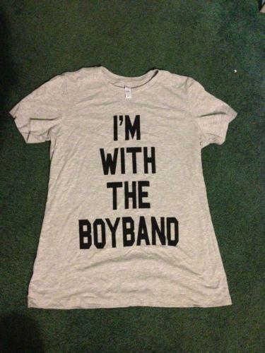 I'm with the Boy Band t-shirt NKOTB 1D NSYNC BackStreet ...