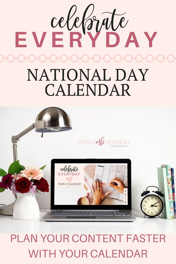 The Celebrate Every Day | National Day Calendar helps you to take control of your social media efforts and content creation. Stop The Overwhelm!  💕 The 20-Page printable worksheets cover:   Monthly Editorial Calendar List on National Holidays Content Scheduling Tools List Instagram Grid Planning Tools List Instructions on how to plan Content Blank Brainstorm Sheets 140+ National Days to Celebrate & Market An included Table of Contents explains how to use each worksheet.    Print it ou