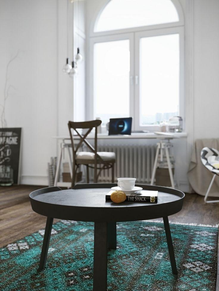 Aménagement studio de style scandinave – atmosphère accueillante et couleurs fraîches