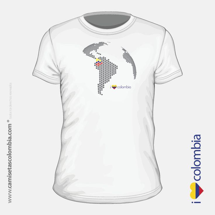 Camiseta de Colombia para hombre