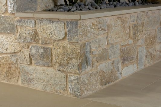 Eco Outdoor - Walling - Random Ashlar - Coolum for far side of pool and front garden retaining walls.