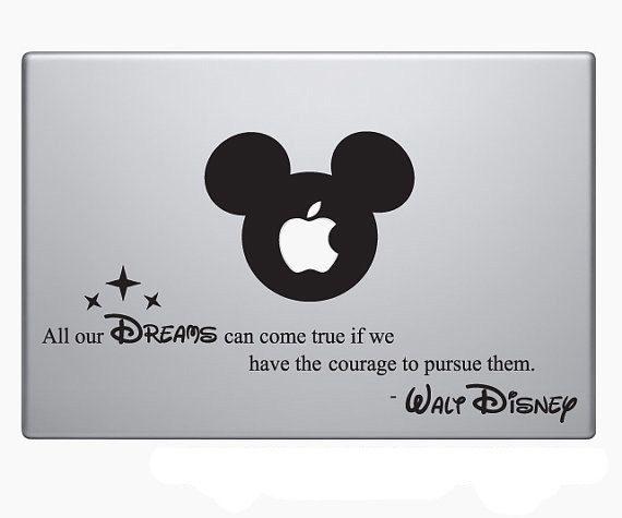 Mots de Walt Disney inspirer cite portable vinyle autocollant autocollant MacBook Apple Mickey Mouse Inspirational cool à vivre par
