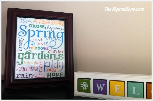 Colorful Spring Graffiti Printable