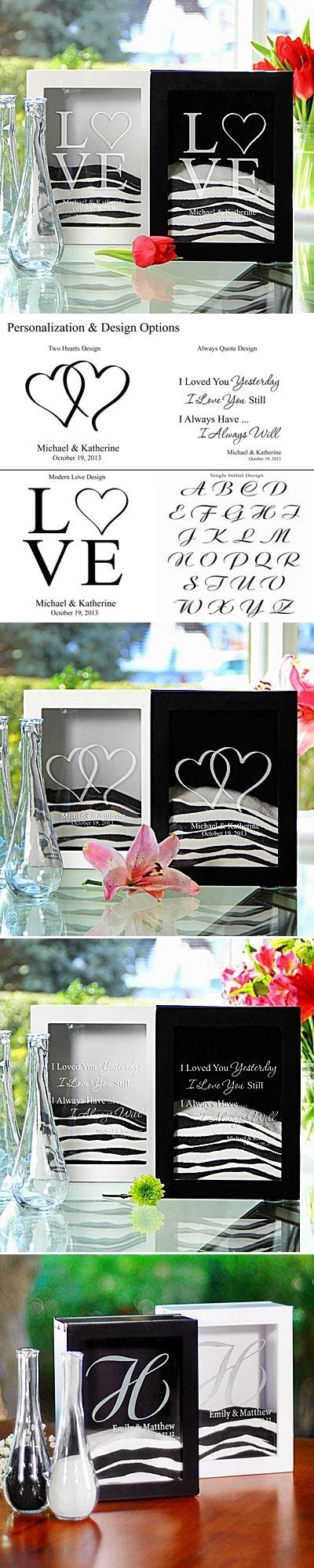 Personalized Sand Unity Ceremony Shadow Box Set (4 Designs)
