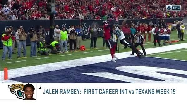 """I love Hopkins, but Ramsey? Shut him down.""  Jalen Ramsey is Ike Taylor's DB of Week 15"