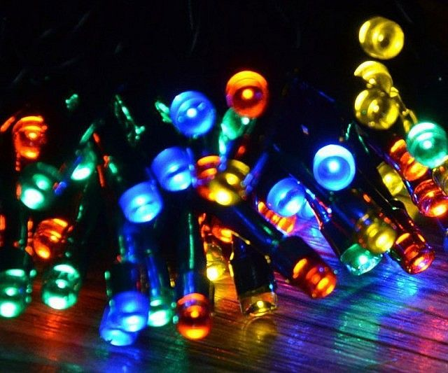 Give your yard a little nighttime flair without driving up the electric bill by using the solar powered Christmas lights. These colorful and vibrant lights create an inviting and cheerful atmosphere that make them ideal for year round use.
