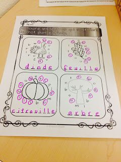 L'automne - activités pour travailler sur le vocabulaire de l'automne. Centres de littératie.