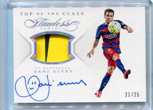 2015-16 Panini Flawless Dani Alves Auto Autograph Jersey Patch #ed 21/25