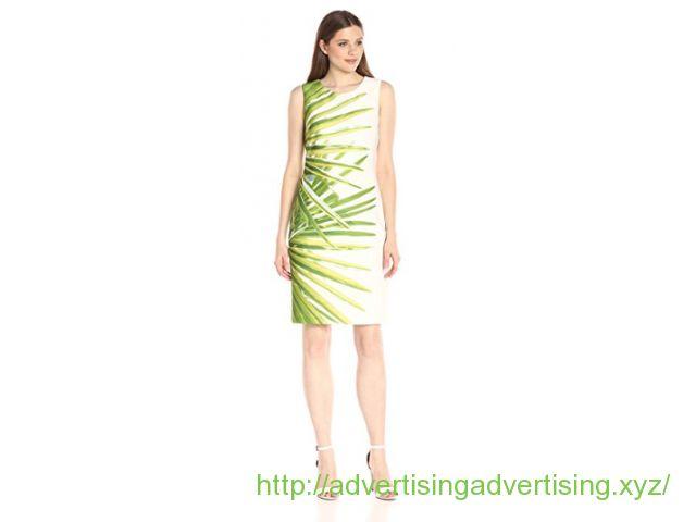 Tommy Hilfiger Women's Ocean Palm Scuba Sheath Dres