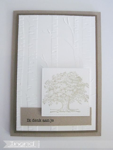 Stampin' Up!, ingridcardsandmore, Lovely As a Tree, #GDP084, Crumb Cake, Woodland Embossing Folder, Condoleance