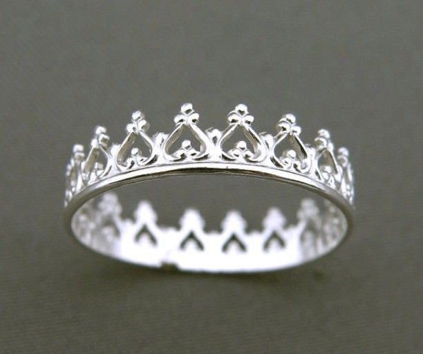 #love #happiness #happy #wedding #girls #bestoftheday #girl #followme #style #picoftheday #smile #cute #kiss #kisses #girlfriend #boyfriend #together #beautiful  Silver #ring, a #crown of #hearts #heart - You Are My Princess.