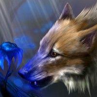 Картинка с лисой в стиле фэнтези #картинки#рисунок#арт#животные#лиса#фэнтези