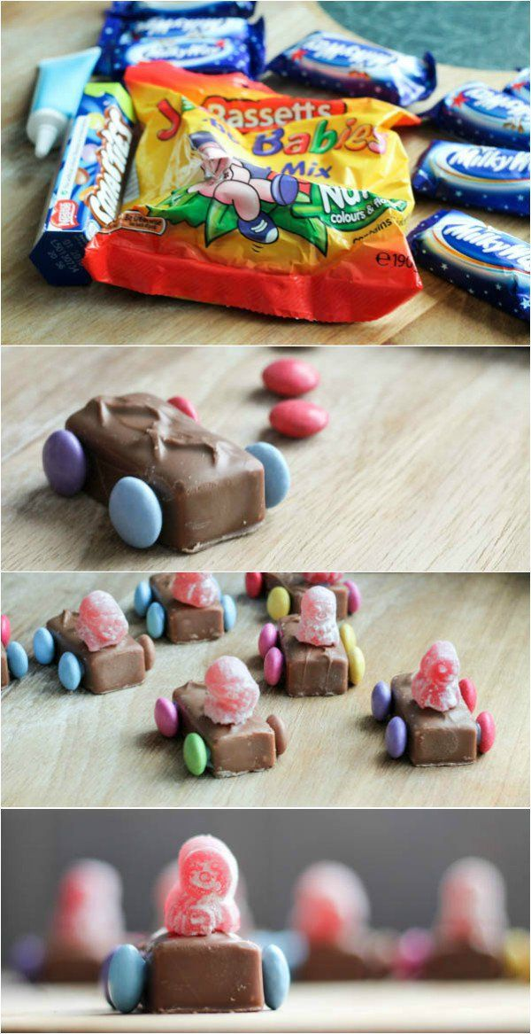 Fun and easy to make car themed chocolate treats for kids
