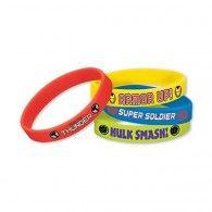 Avengers Bracelets Favors Rubber Pkt4 $11.95 A393314