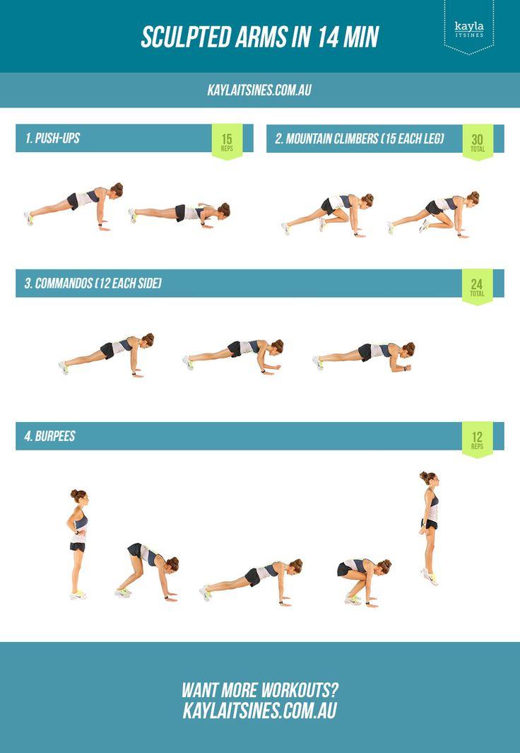 14 Minute Arm Workout! – Kayla Itsines