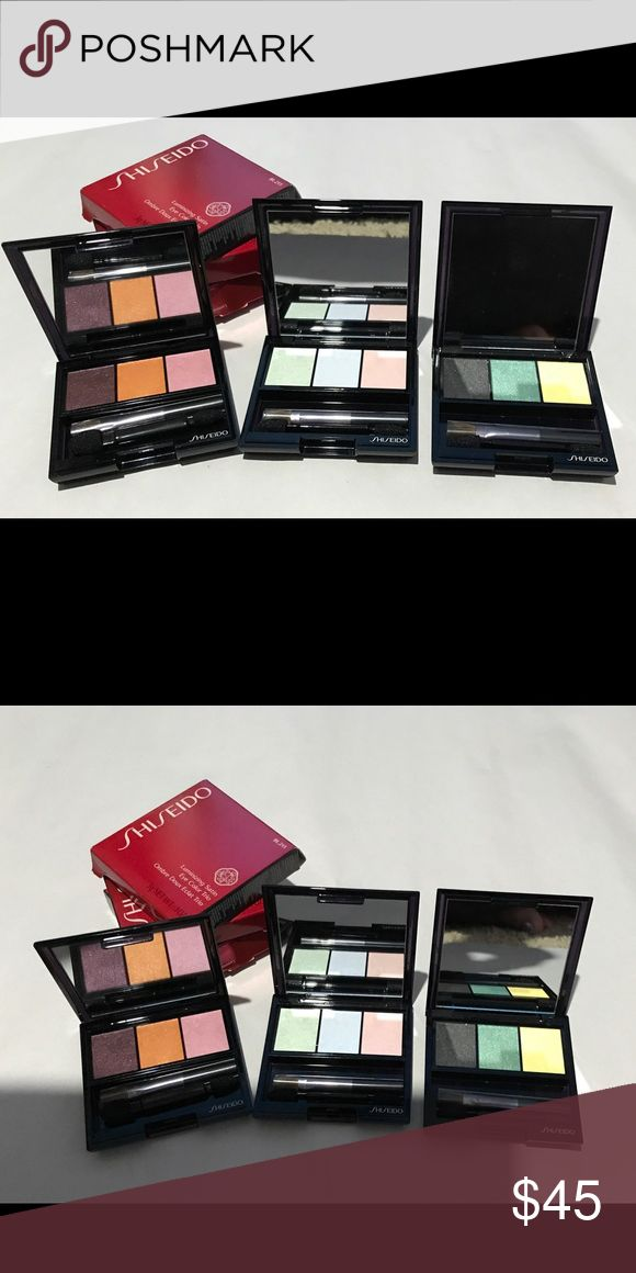Bundle of Shiseido make up Never been use 3 Luminizing Satin Eye Color Trio. Makeup Eyeshadow