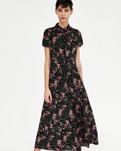 Zara Vestido Floral Largo México Semana Estampado Última Mujer 8qSaYw8