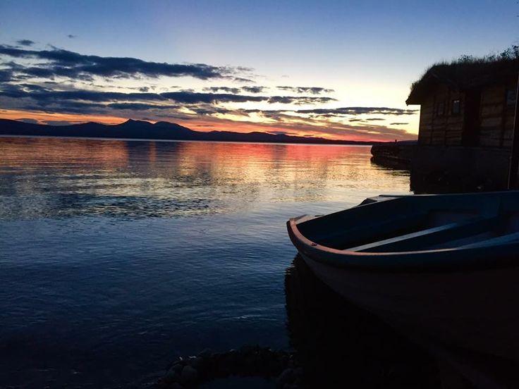 Sunset Engerdal Lake Femund Elga, Norway
