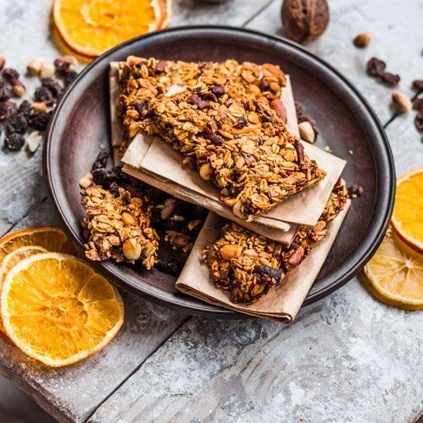 Barres de céréales aux fruits secs et au citron - Avec du musli