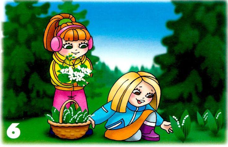 zbierať kvety v chránenom parku/lese