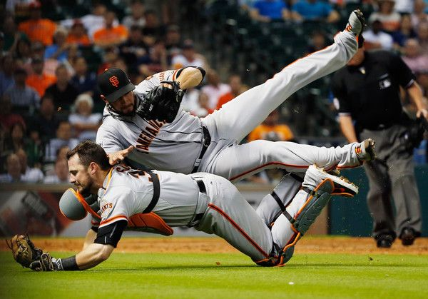 Andrew Susac in San Francisco Giants v Houston Astros