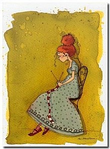 la petite tricoteuse