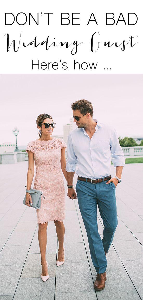 Be a GOOD wedding guest, not a BAD wedding guest!