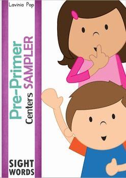 Pre-Primer Sight Word Centers SAMPLER